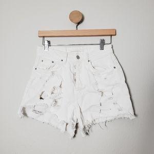 💗3for25 Zara Denim Jean Shorts Destroyed